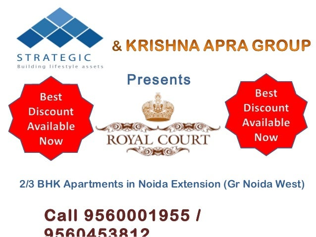 Presents2/3 BHK Apartments in Noida Extension (Gr Noida West)    Call 9560001955 /