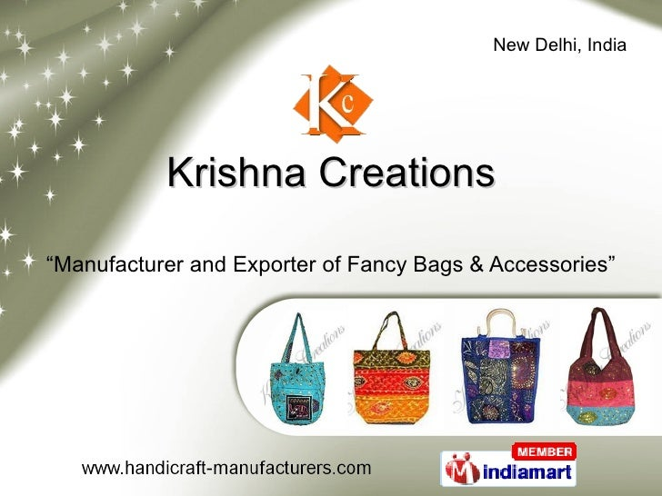 """Krishna Creations """" Manufacturer and Exporter of Fancy Bags & Accessories"""""""