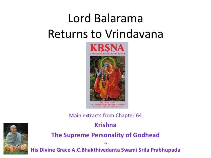 Krishna Leela Series - Part 60 - Lord Balarama Visits Vrndavana