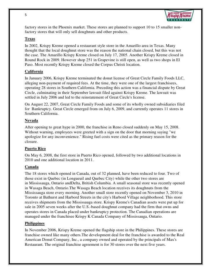 2008 case analysis on krispy kreme doughnuts inc Free essay: krispy kreme case analysis running head: krispy kreme doughnuts, inc: a case analysis krispy kreme doughnuts, inc: a case analysis presented to.