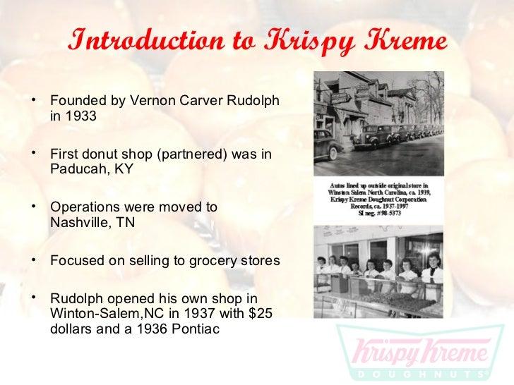 krispy kreme 3 essay Krispy kreme is a chain of doughnut stores its parent company is krispy kreme doughnuts inc, based in winston-salem, north carolina, united.