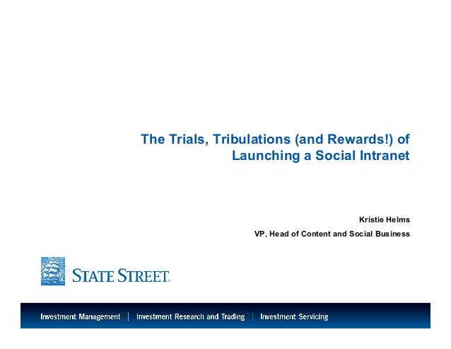 The Trials, Tribulations (and Rewards!) of Launching a Social Intranet - BDI 3/6 Financial Services Social Business Leadership Forum