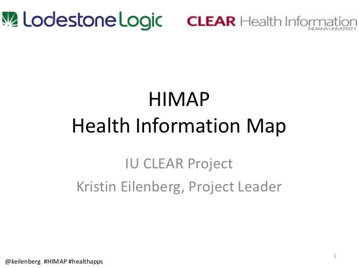 HIMAP                    Health Information Map                              IU CLEAR Project                     Kristin ...