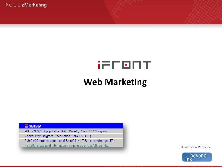 Web Marketing<br />International Partners:<br />