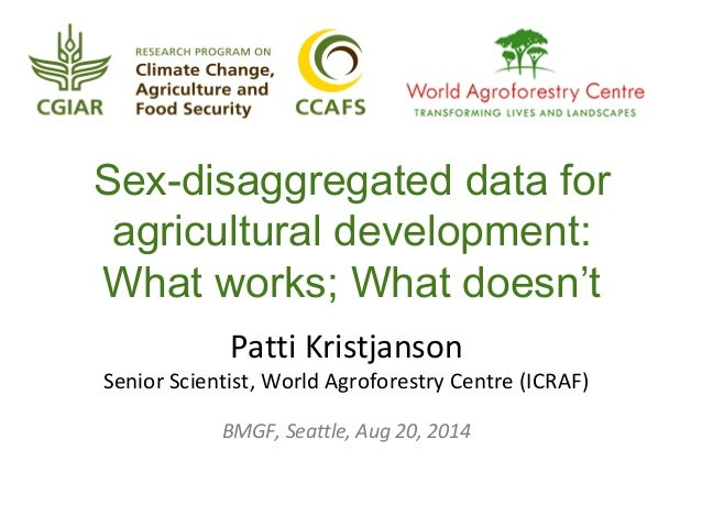 Sex-disaggregated data for agricultural development: What works; What doesn't