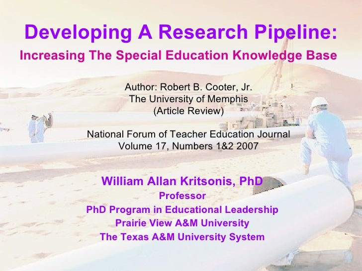 Kritsonis   research pipeline