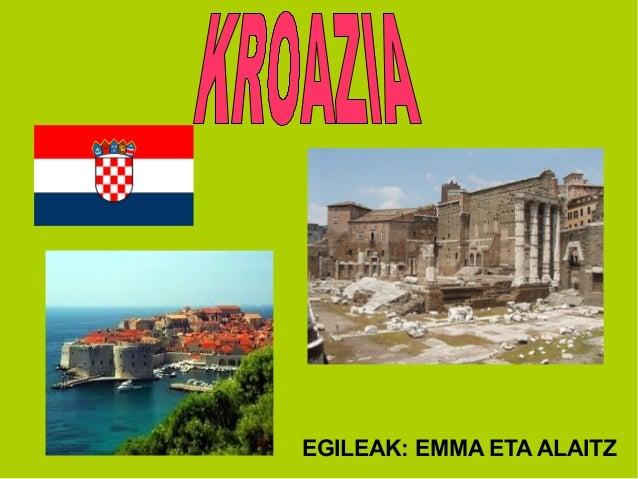 Kroazia emma eta alaitz