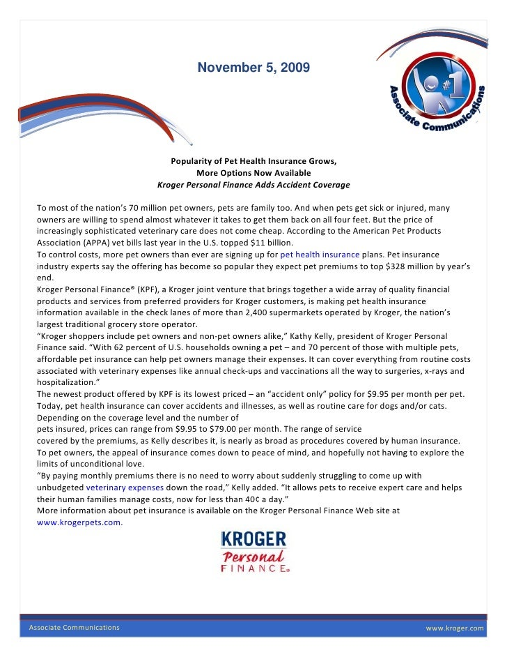 Kroger465 Apr2010 Pet Insurance