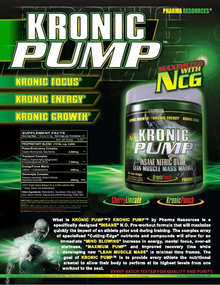 Kronic pump flyer