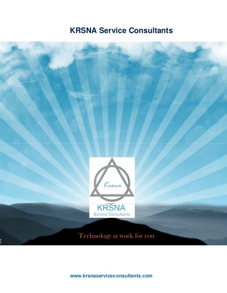 Krsna service consultants brochure