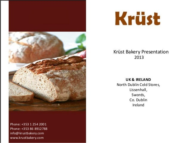Krüst bakery   introduction -