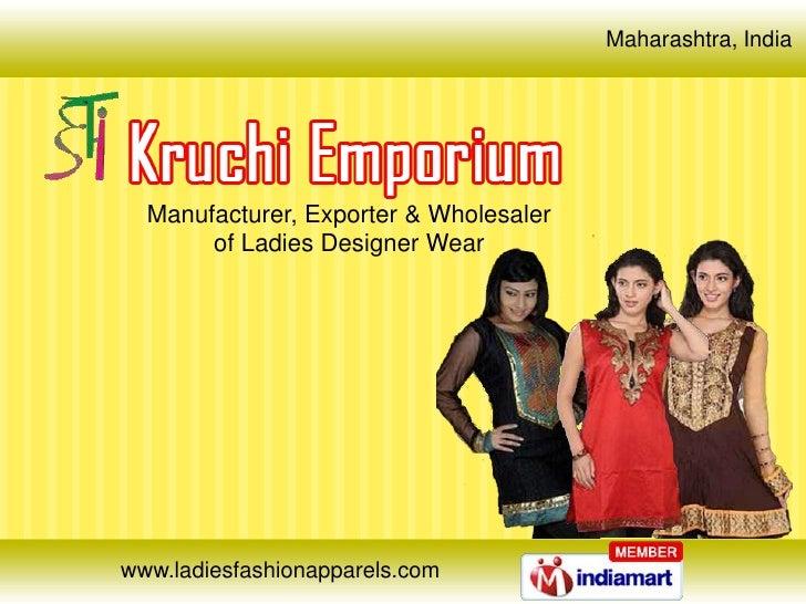 Ladies Designer Wear Apparel & Garments Maharashtra India
