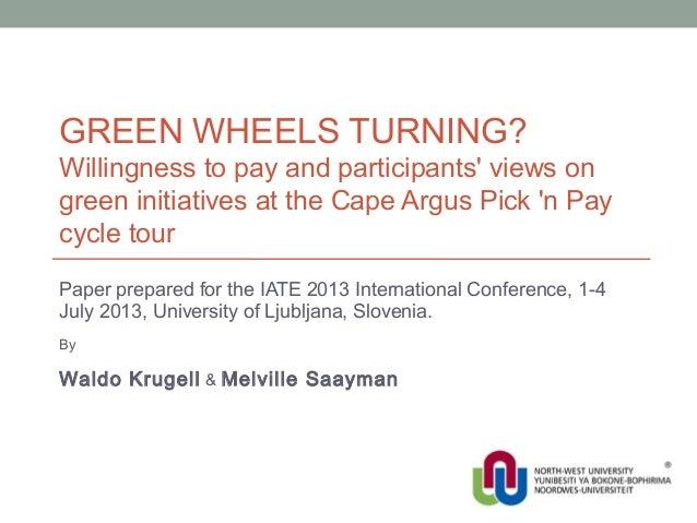 Green wheels turning?