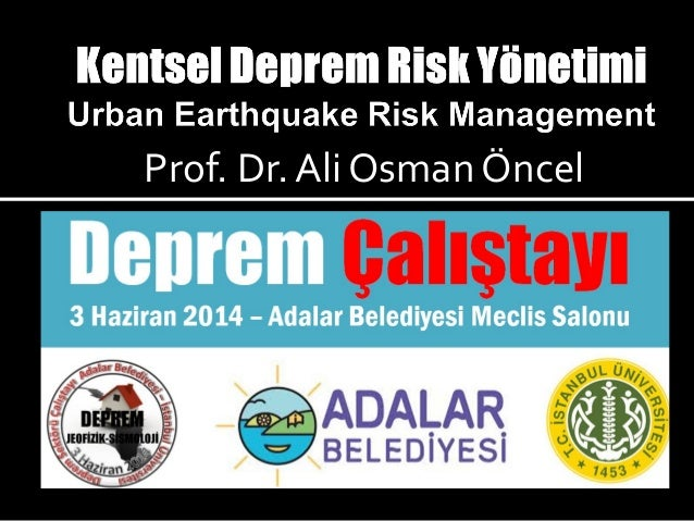 Kentsel Deprem Risk Yönetimi