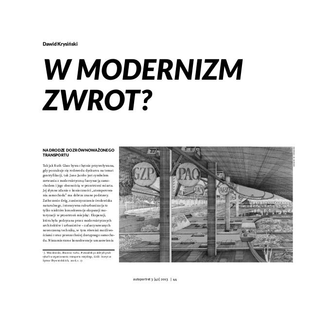 Dawid Krysiński  library of congress  W modernizm zwrot? Na drodze do zrównoważonego transportu Tak jak Ruth Glass bywa ch...