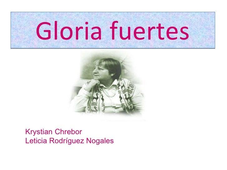 Krystian y Leticia.Gloria Fuertes