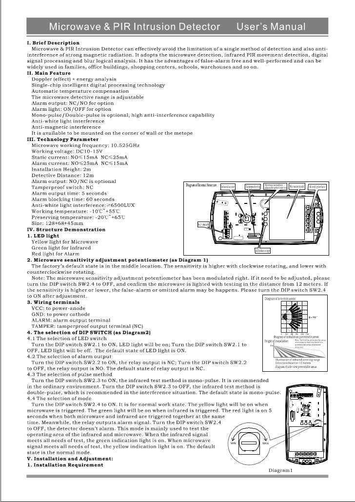 Ks 208 mt PIR user's manual