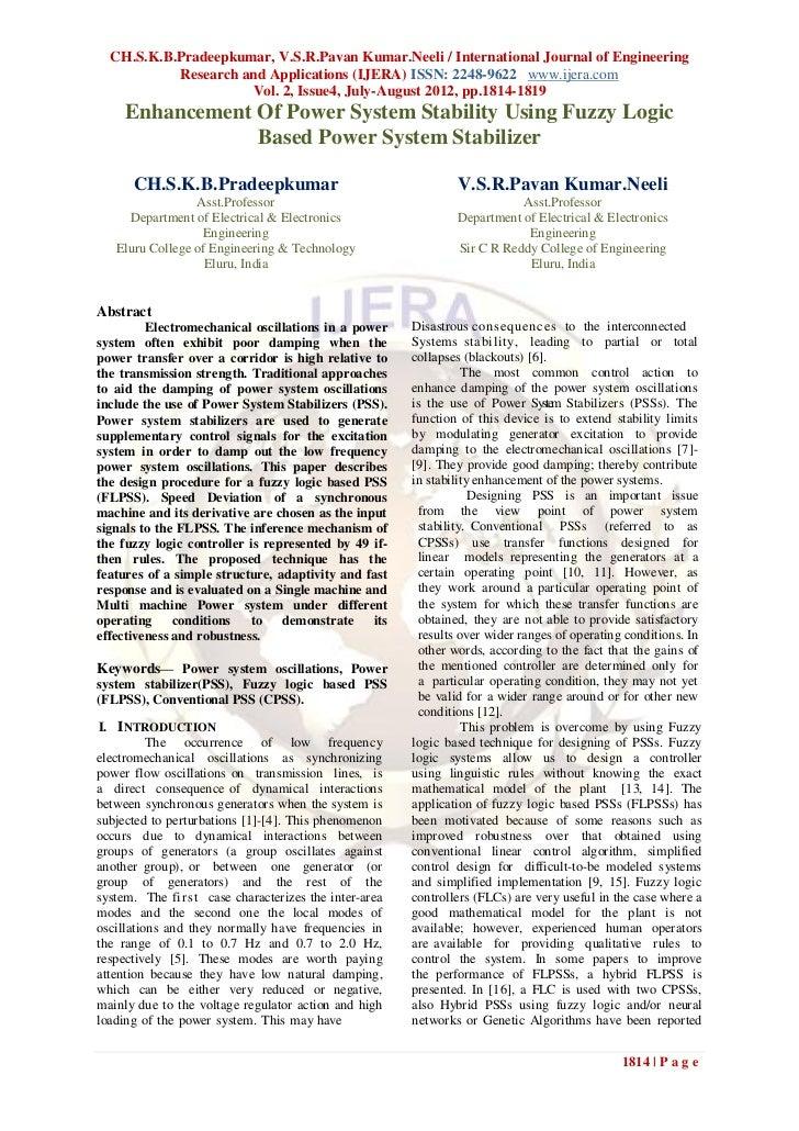 CH.S.K.B.Pradeepkumar, V.S.R.Pavan Kumar.Neeli / International Journal of Engineering           Research and Applications ...