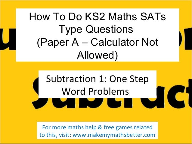 How To Do KS2 Maths SATs A Subtraction Questions