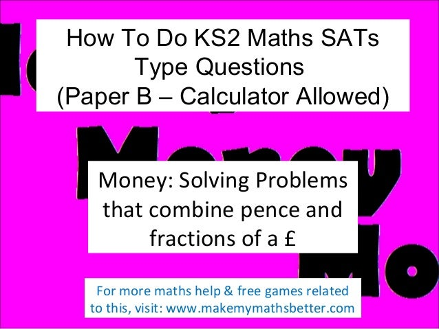 How To Do KS2 Maths B SATs Money Questions (Part 1)