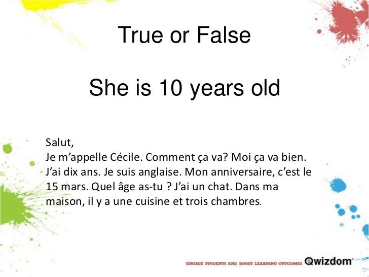ks3 year 7 french test