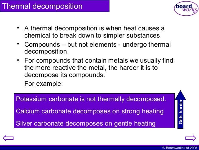 enthalpy change for the thermal decomposition of khco3 Calcium carbonate is strongly heated until it undergoes thermal decomposition to form calcium oxide and carbon dioxide the calcium oxide (unslaked lime) is dissolved.
