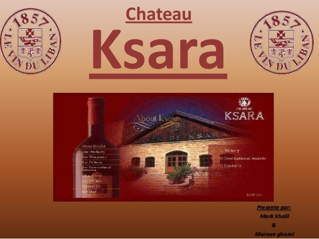 ChateauKsara           Presente par:            Mark khalil                &           Maroun ghazal