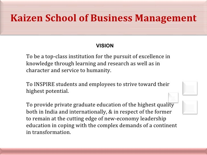VISION To be a top-class institution for the pursuit of excellence in knowledge through learning and research as well as i...