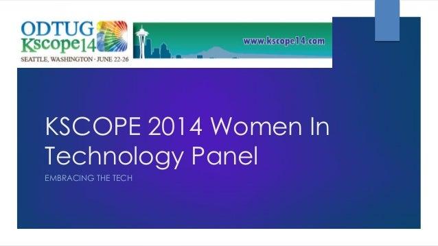 Kscope Women in Technology 2014