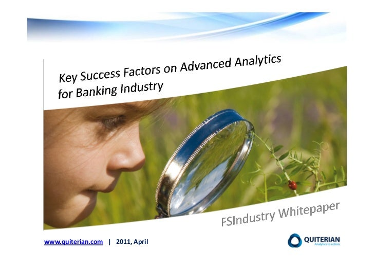 Quiterian Ksf on advanced analytics for banking april 2011 eng