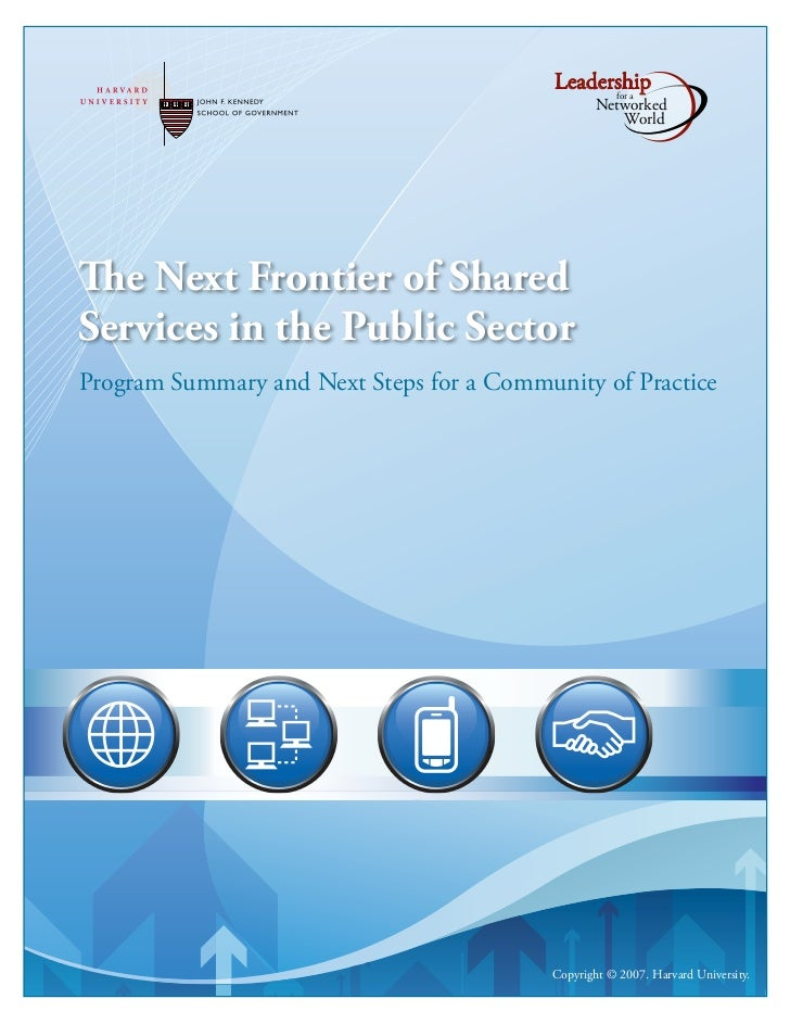 Next Frontier of Shared Services in the Public Sector