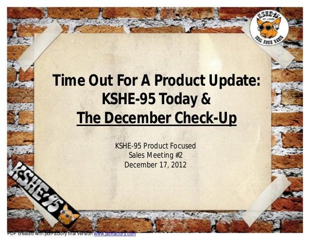 Kshe 95's december check-up 2012 full slide view