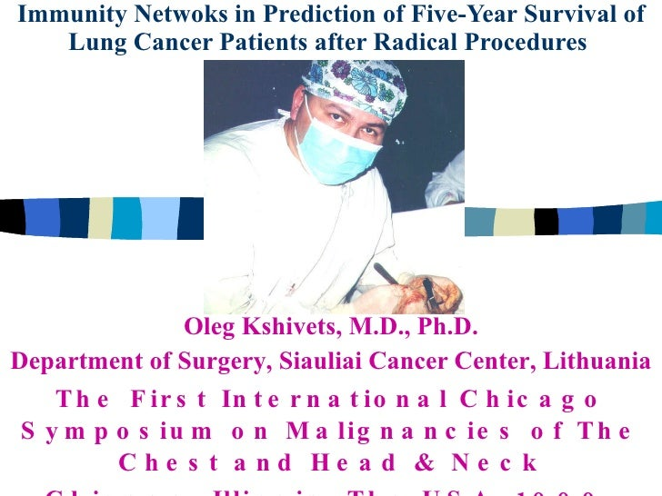 Immunity Netwoks in Prediction of Five-Year Survival of Lung Cancer Patients after Radical Procedures   Oleg Kshivets, M.D...