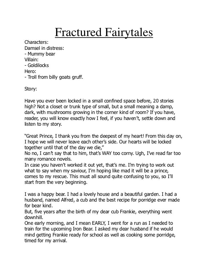 Fractured Fairytale By Rosie and Ella