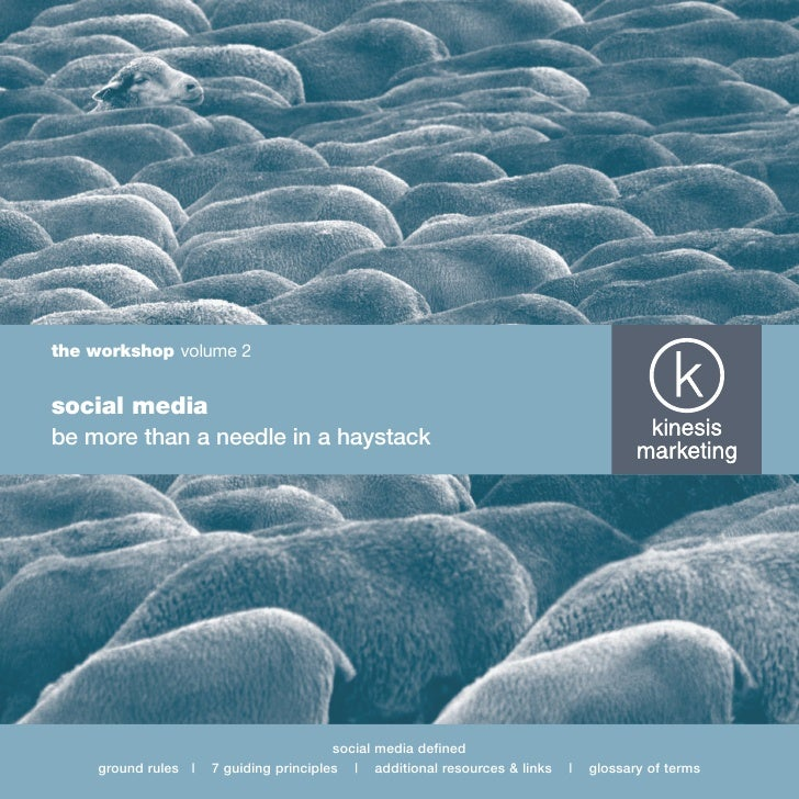 the workshop volume 2   social media be more than a needle in a haystack                                             socia...