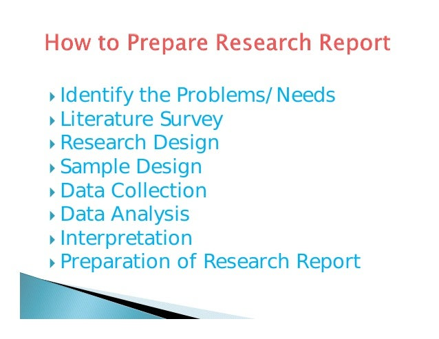 Problems of report writing