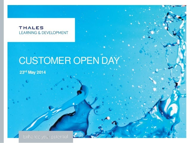 ` CUSTOMER OPEN DAY 23rd May 2014