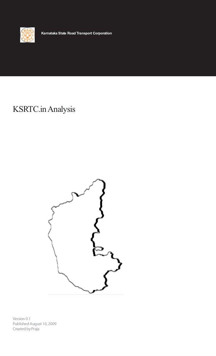 Ksrtc Analysis