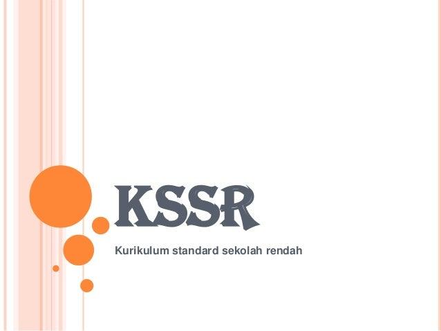 KSSRKurikulum standard sekolah rendah