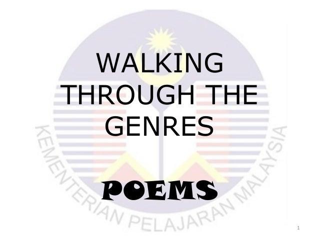 WALKING THROUGH THE GENRES POEMS 1