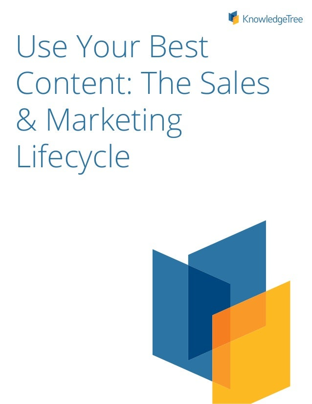 Use Your BestContent: The Sales& MarketingLifecycle