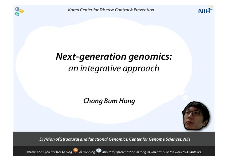 Korea Center for Disease Control & Prevention                     Next-generation genomics:                              a...