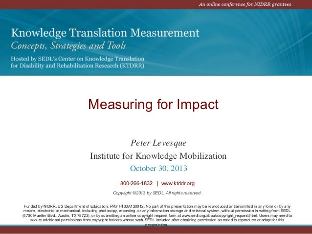 KTDRR Measuring for Impact_Peter Levesque