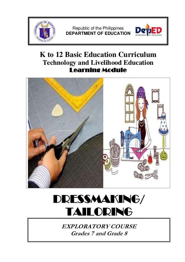 dressmaking learning module k