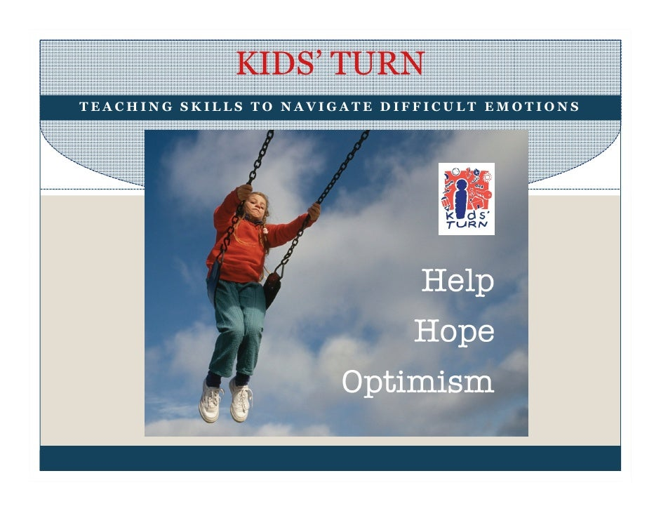 KIDS' TURN TEACHING SKILLS TO NAVIGATE DIFFICULT EMOTIONS