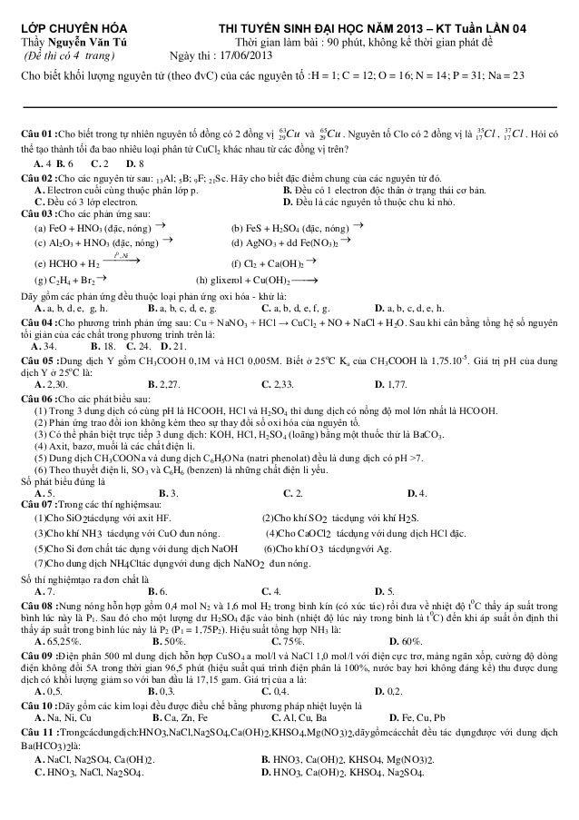  4 trang)  2013 –  04  : 17/06/2013 :H = 1; C = 12; O = 16; N = 14; P = 31; Na = 23  63 29  ...