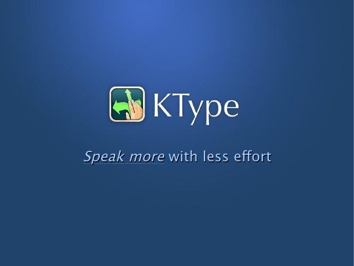 Speak more with less effort