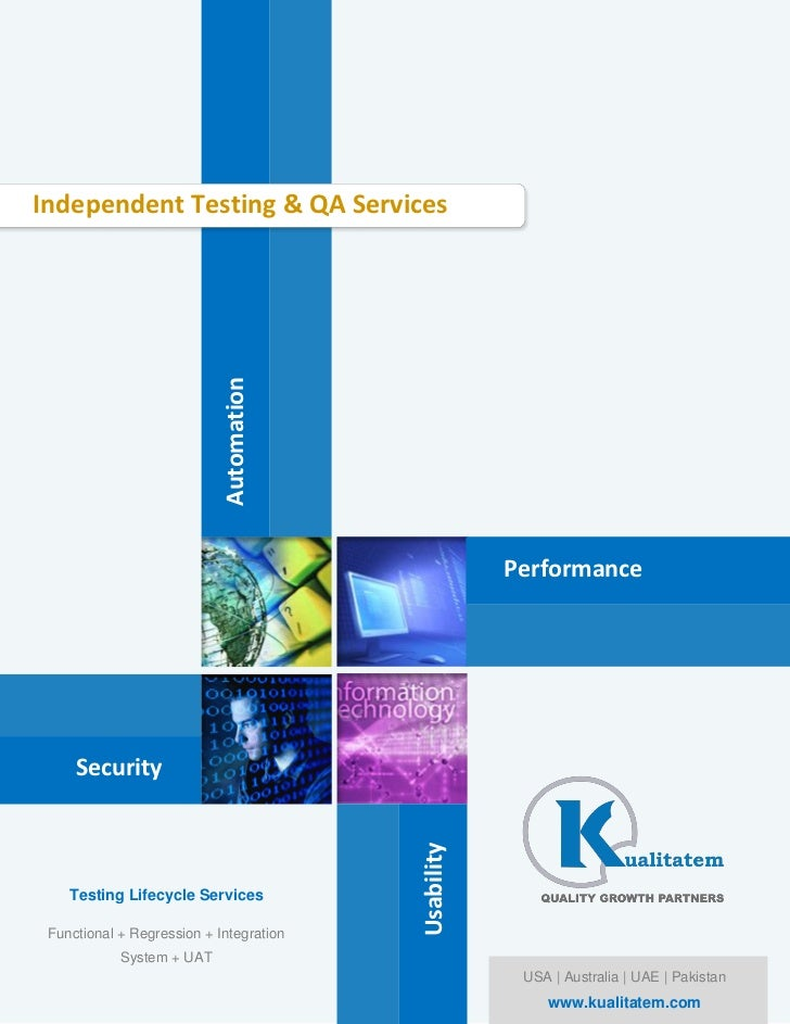 Independent Testing & QA Services                            Automation                                                   ...