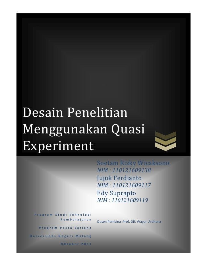 Kuasi eksperimen