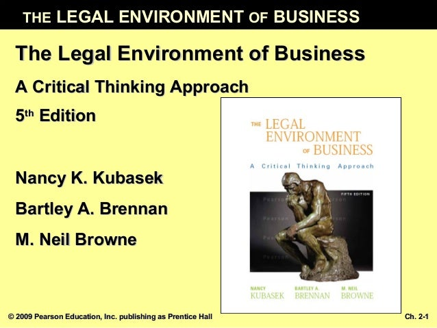 THE LEGAL ENVIRONMENT OF BUSINESS © 2009 Pearson Education, Inc. publishing as Prentice Hall© 2009 Pearson Education, Inc....